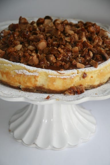 Caramel and Macadamia cheesecake easy recipe